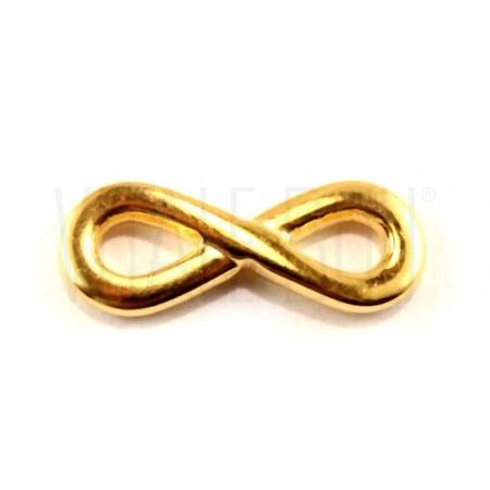 Infinito 17x7mm - dourado aço ...