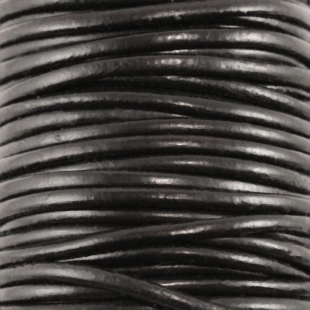 fio de cabedal 3mm - PRETO