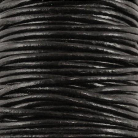 fio de cabedal 2mm - PRETO