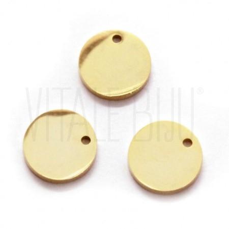 Medalha lisa dourada 10mm - Aç...