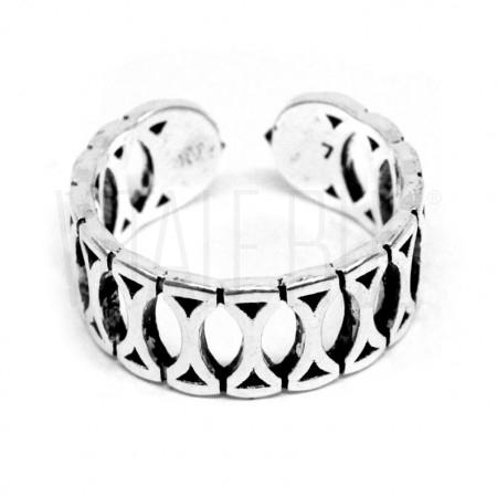 Anel regulável / ajustável - Banhado à prata