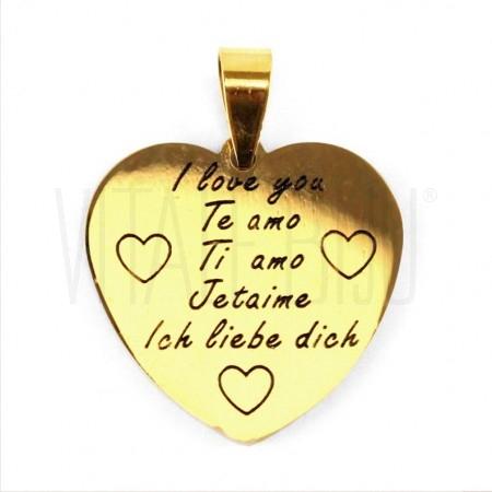 Pendente coração i love you do...