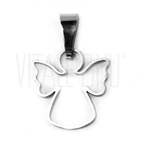 Medalha anjo vazado 15mm - aço...