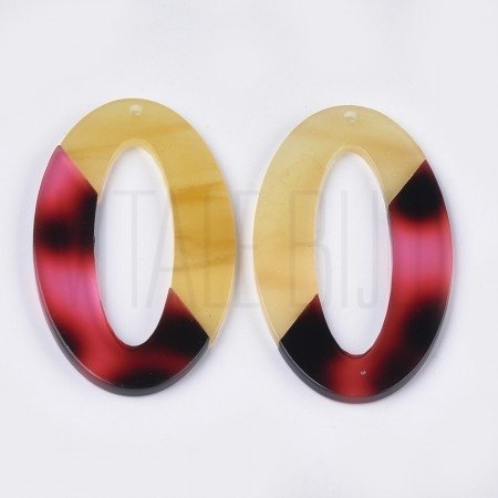Medalha acrilica oval 52x30mm ...