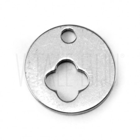 Medalha flor aço inox 12mm