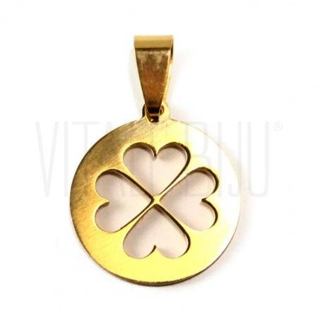 Medalha trevo da sorte 20mm - ...