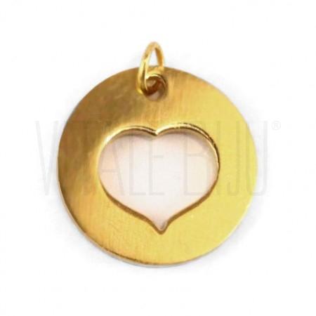 Medalha coração aço inox 14mm ...