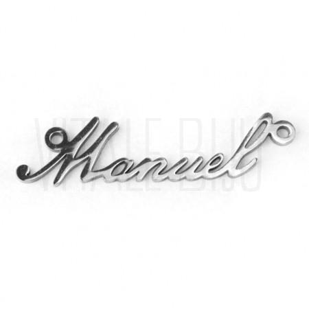 Pendente nome Manuel - aço ino...