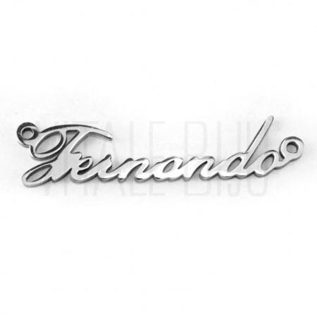 Pendente nome Fernando - aço i...