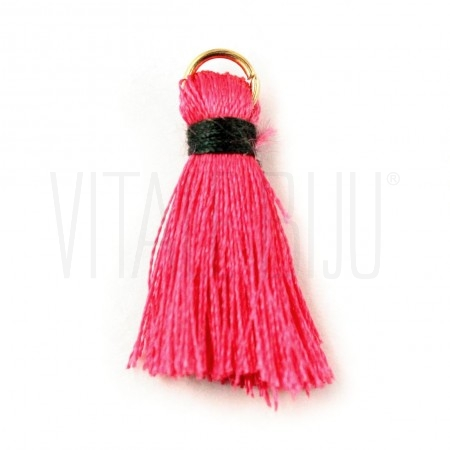 Pompom de seda pink/verde trop...
