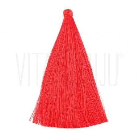 Pompom de seda  12cm  Vermelho