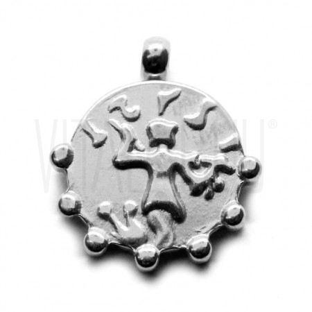 Medalha romana 15mm - aço inox...