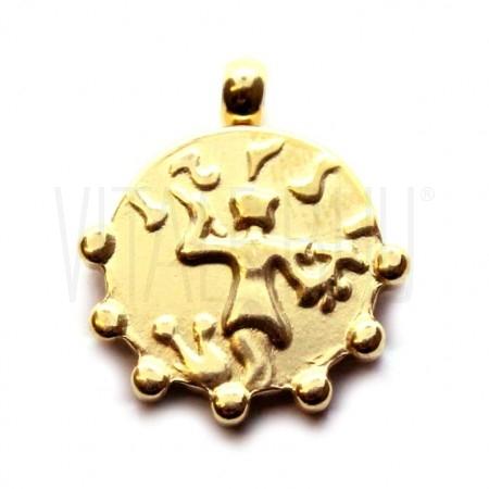 Medalha romana dourada16.5mm -...