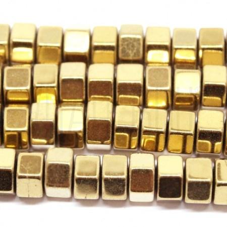 Pack 20  hematita 6mm dourada