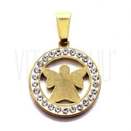 Medalha Anjo dourado brilhant...