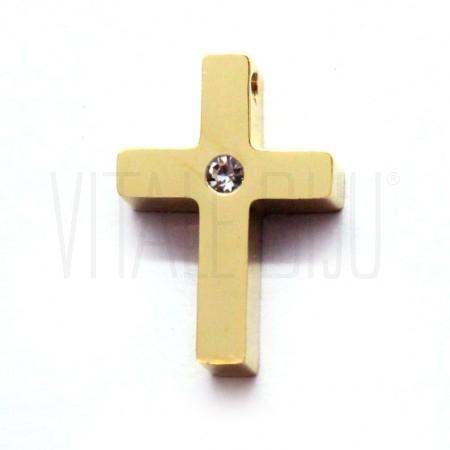 Pendente cruz c/ brilhante 15x...