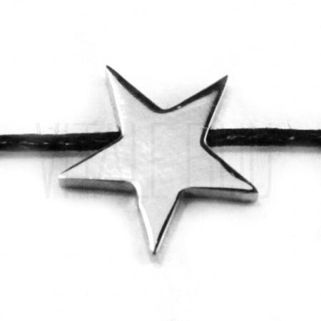 Entremeio estrela 14x14mm - aç...